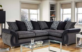 Bellini Left Hand Facing 3 Seater Pillow Back Corner Sofa Bellini