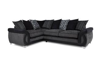 Right Hand Facing 3 Seater Pillow Back Corner Sofa Bellini