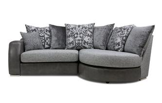 Pillow Back Left Hand Facing 2 Seater Chaise End Sofa