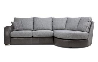 Formal Back Left Hand Facing 3 Seater Chaise End Sofa
