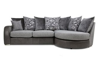 Pillow Back Left Hand Facing 3 Seater Chaise End Sofa