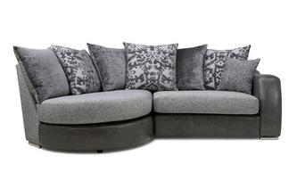 Pillow Back Right Hand Facing 2 Seater Chaise End Sofa