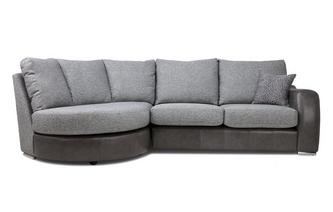 Formal Back Right Hand Facing 3 Seater Chaise End Sofa
