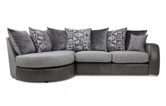 Pillow Back Right Hand Facing 3 Seater Chaise End Sofa