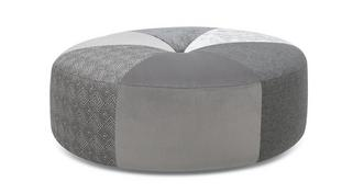 Beresford Pattern Round Footstool