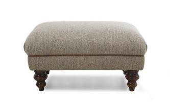 Rectangular Footstool Harris Tweed