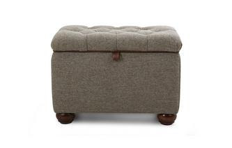 Small Storage Ottoman Harris Tweed