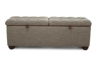 Double Storage Ottoman Harris Tweed