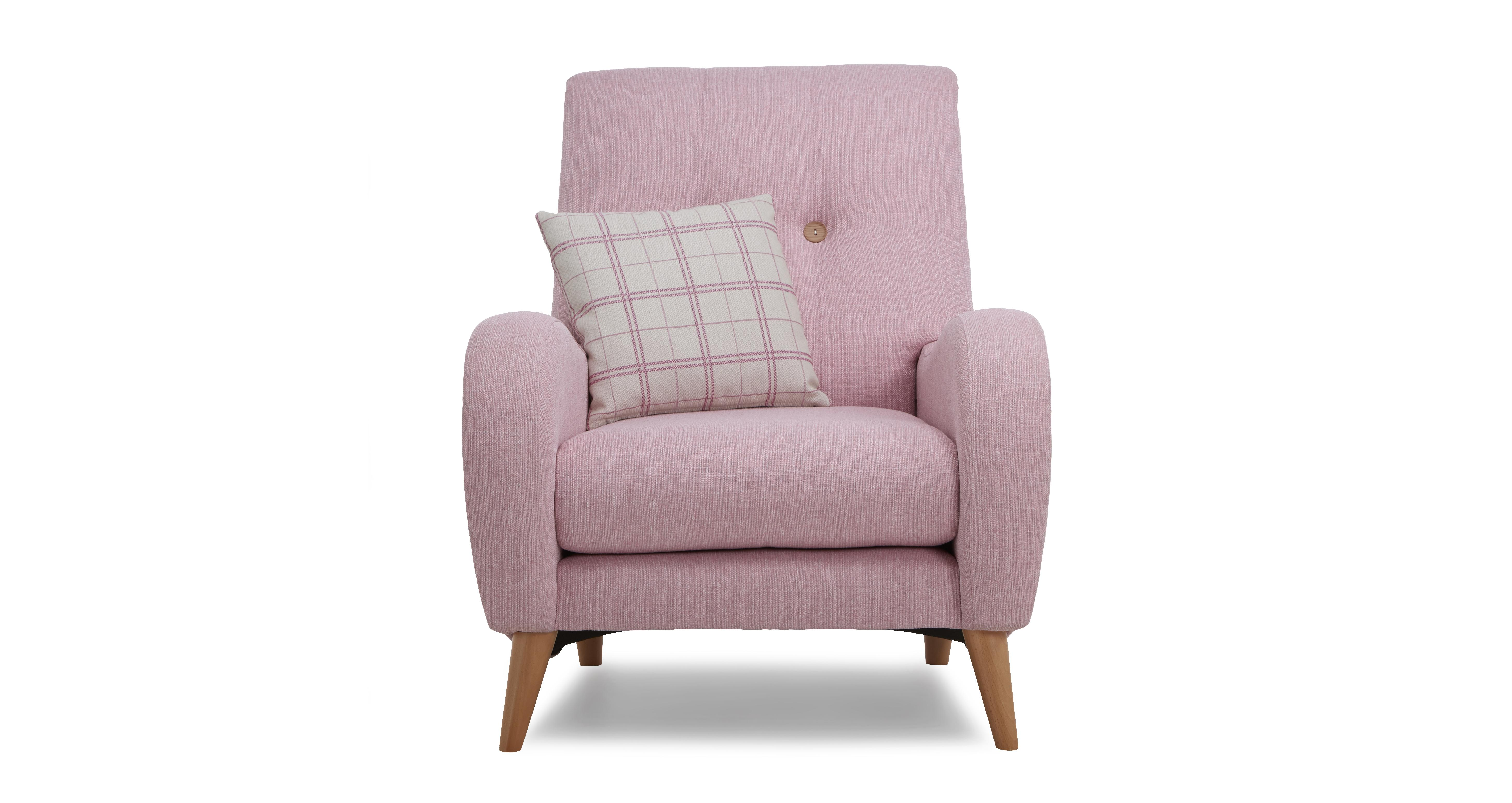 Pink Accent Chair Hot Pink Modern Chair Gold Accents