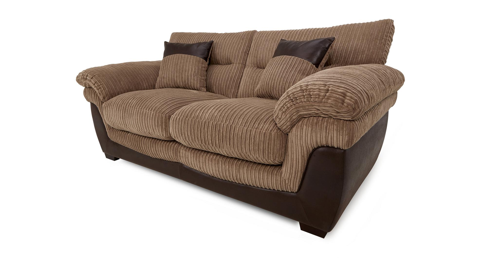 Dfs Bexley Nutmeg Brown Fabric Large 2 Seater Sofa Bed Ebay