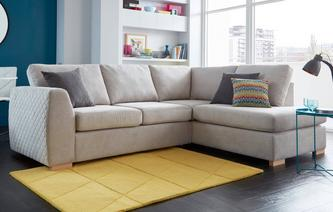 Bijoux Left Hand Facing Arm Open End Corner Sofa Sherbet