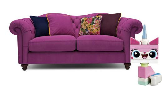 Joules Pink Windsor Sofa