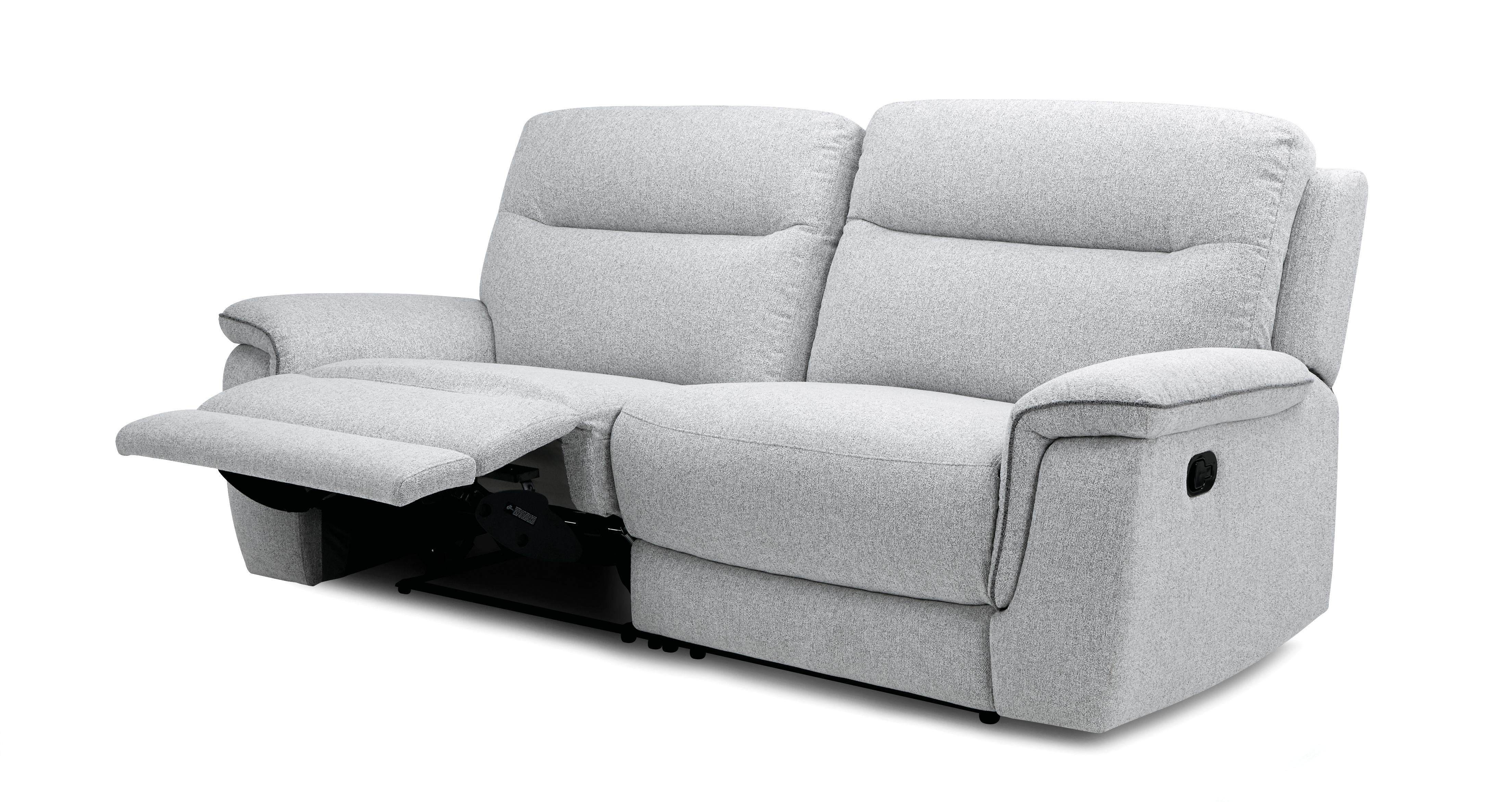 Bootle: 3 Seater Manual Recliner Sofa