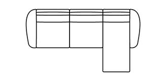 Borneo Optie Q Rechtszijdige chaise 2.5-zits bank