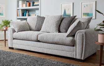 Boston 4 Seater Pillow Back Sofa Boston
