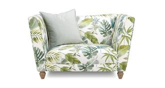 Botanic Pattern Cuddler Sofa
