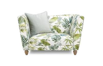 Pattern Cuddler Sofa Botanic Leaf