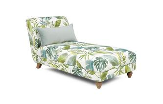 Gedessineerde Chaise Longue Botanic Leaf