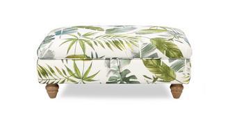 Botanic Pattern Banquette Storage Footstool