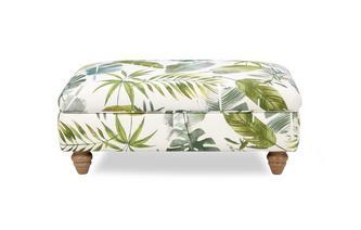 Pattern Banquette Storage Footstool Botanic Leaf