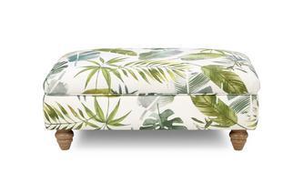 Pattern Banquette Footstool Botanic Leaf