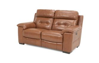 Leder en lederlook 2-zitter handbediende recliner Brazil with Leather Look Fabric