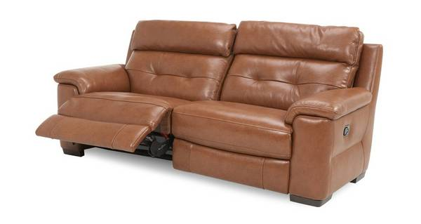Bowness Leder en lederlook 3-zitter handbediende recliner