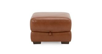Bowness Leather and Leather Look Storage Footstool