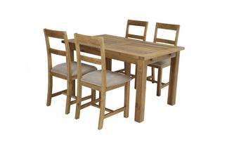 Small Extending Table & Set of 4 Chairs