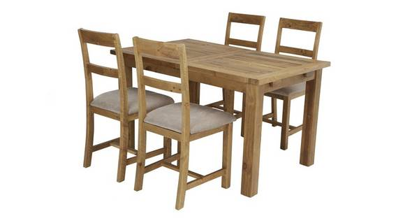 Bracken Small Extending Table & Set of 4 Chairs