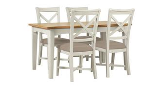 Brady Medium Extending Table & 4 Chairs