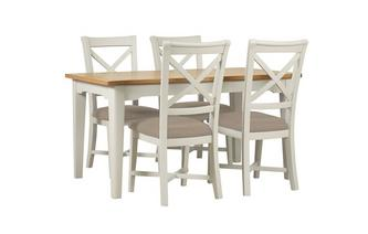 Medium Extending Table & 4 Chairs Brady