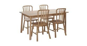Bramley Vaste tafel & set van 4 stoelen