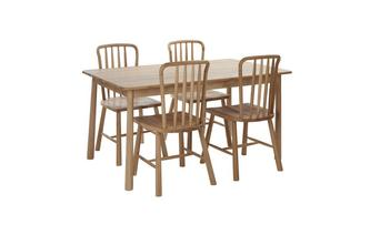 Medium Fixed Dining Table & Set of 4 Chairs