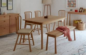Bramley Medium Fixed Dining Table & Set of 4 Chairs Bramley