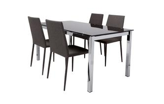 Fixed Top Dining Table and 4 Zenn Chairs Bravo