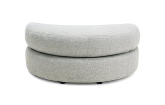 Large Half Moon Footstool