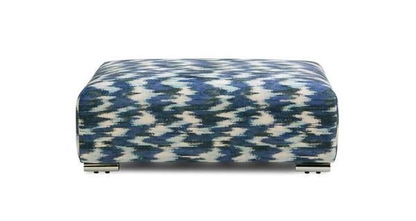 Bren Pattern Banquette Footstool
