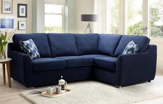 Bren Left Hand Facing 2 Seater Corner Sofa Plaza