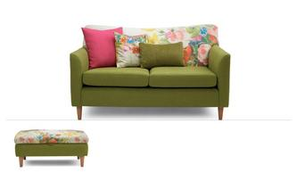 Brionna 2 Piece Clearance 2 Seater Sofa & Stool Brionna