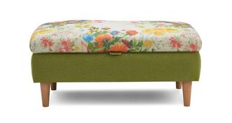 Brionna Small Floral Top Storage Footstool