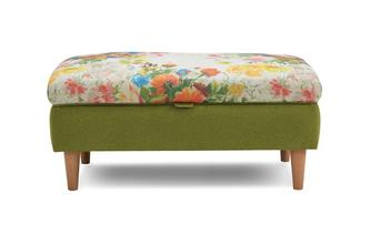 Small Floral Top Storage Footstool Brionna