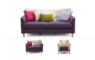 Brionna Clearance 3 Seater Sofa, Cuddler Sofa & Chair Brionna