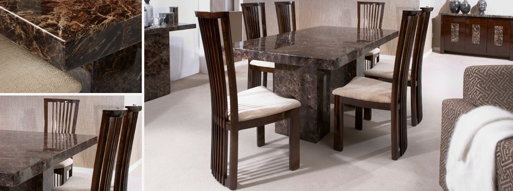 Brisbane Rectangular Dining Table Marble