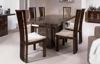 Brisbane Rectangular Table And 4 Salvadore Chairs Marble