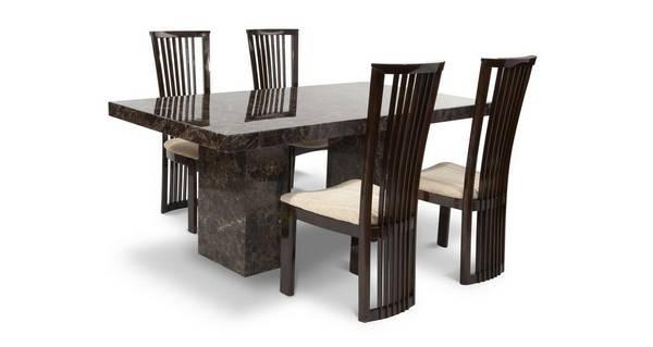 Brisbane Rechthoekige tafel en 4 Salvadore stoelen