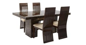 Brisbane Rectangular Table and 4 Lima Chairs