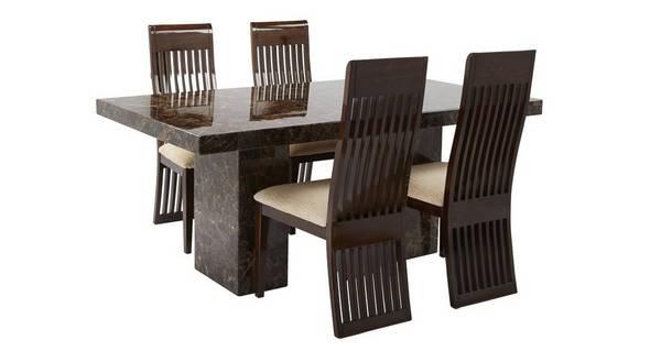 Brisbane Rechthoekige tafel en 4 Lima stoelen