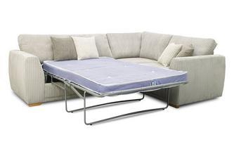 Left Hand Facing 2 Seater Deluxe Corner Sofa Bed