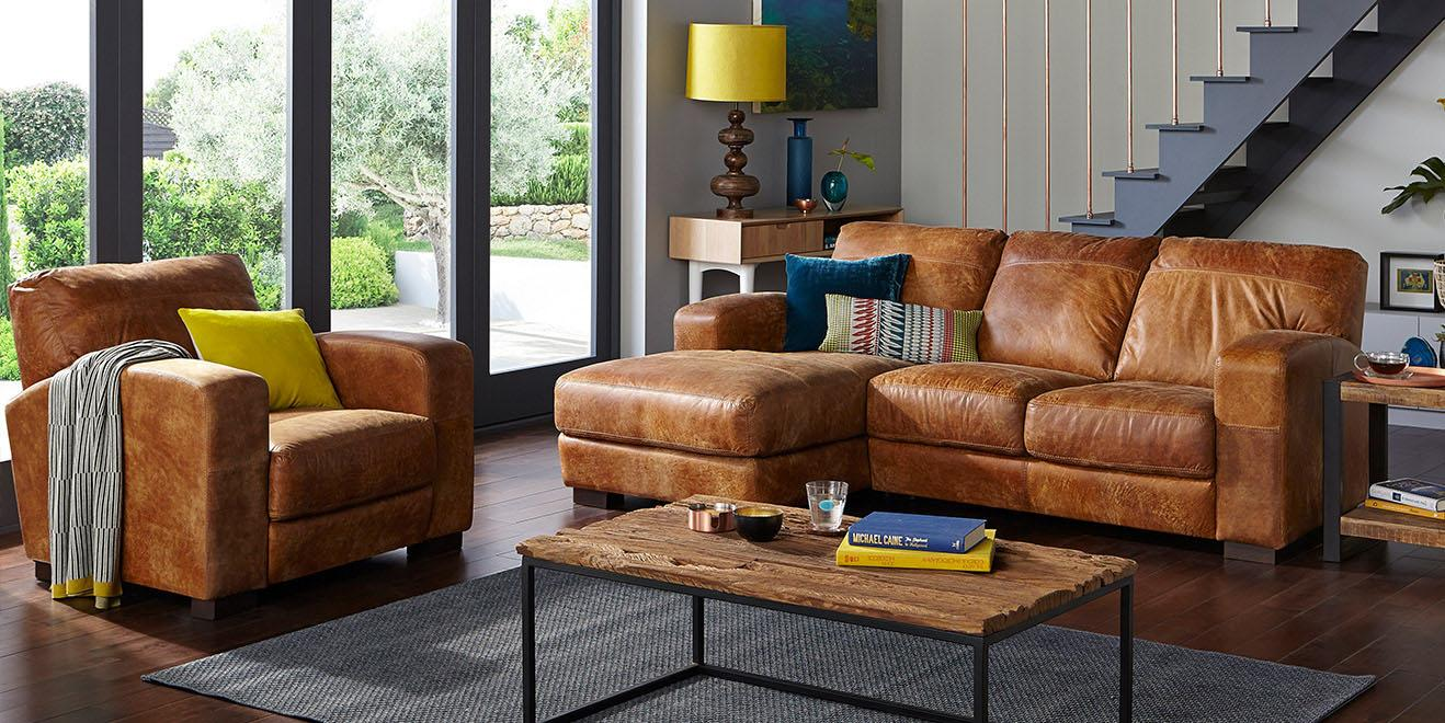 Brown Sofas  DFS